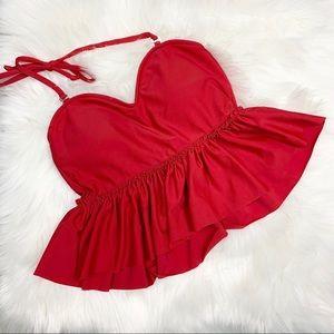 Kortni Jeane Sweetheart Peplum Swimsuit Top XS